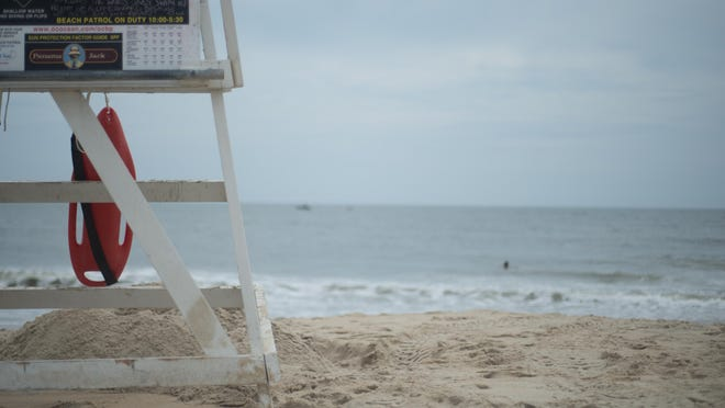 A guard watches over the water at 15th Street in Ocean City.