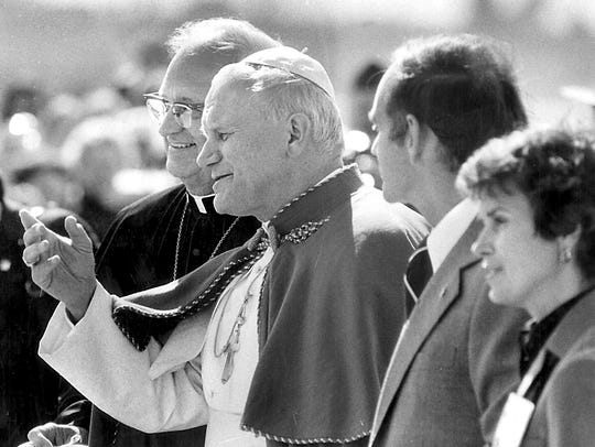 From 1979: Pope John Paul II was greeted at the airport