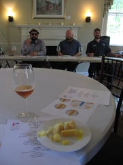 "Certified craft beer guide Burke Morrison, Two Stones Pub co-owner Ben ""Gumbo"" Muse and 3rd Wave Brewing Company brewmaster John Panaseiwicz lead the Tasting With The Pros: Beer + Cheese Edition at The Arsenal in New Castle on Saturday."