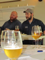 "Two Stones Pub co-owner Ben ""Gumbo"" Muse and 3rd Wave Brewing Company brewmaster John Panaseiwicz lead the Tasting With The Pros: Beer + Cheese Edition at The Arsenal in New Castle on Saturday."