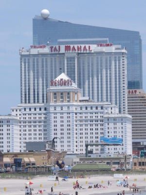 This June 26, 2015 photo shows Resorts, the Trump Taj Mahal, and the former Revel casino in Atlantic City. On Thursday Dec. 17, the New Jersey Legislature plans to consider changes Gov. Chris Christie requested to a financial assistance package for Atlantic City and its struggling casino industry. Revel was one of four Atlantic City casinos to go out of business in 2014.