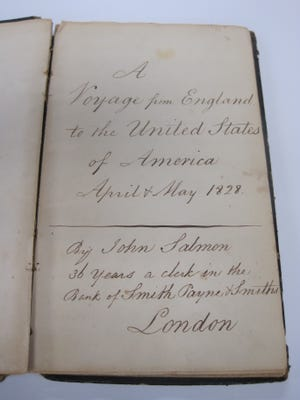 This is an excerpt from John Salmon's 1828 journal which chronicled his journey from England to America.