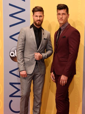 High Valley arrives on the red carpet at the 2016 CMA Awards on Nov. 2, 2016, in Nashville.