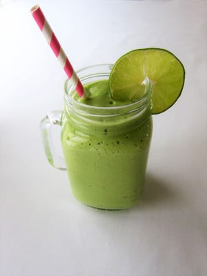 A Creamy Ginger Green Smoothie bursts with nutrients and eye-opening flavor.