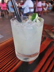 Beach Plum Farm Cucumber and Mint Margarita is farm-to-glass refreshment at the Beach Shack at The Rusty Nail.