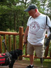 Billy Marshall says his service dog, Lucy, has changed his life.
