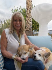Natalie McCluskey in her Scottsdale backyard with her