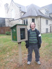 For his Eagle project, Aaron Prinz built a Little Lending Library and directed a book drive that filled up not only his Little Library but 40 more.