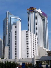 The exterior of the Hard Rock casino in Atlantic City,
