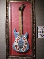 A guitar played by Bon Jovi guitarist Richie Sambora