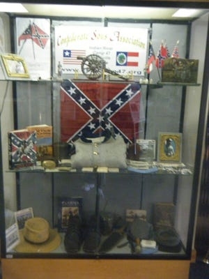 This was the Confederate Sons Association of Florida Indian River Camp 47 display in April 2013 at Brevard County's Central Brevard Library and Reference Center in Cocoa.