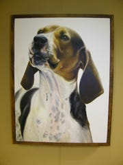 The portraits that hang at ProMedica Memorial Hospital are of dogs that live at Another Chance Sanctuary in Clyde. Annie Semer, the artist, volunteered at Another Chance for several years. The dogs were a source of inspiration for her work