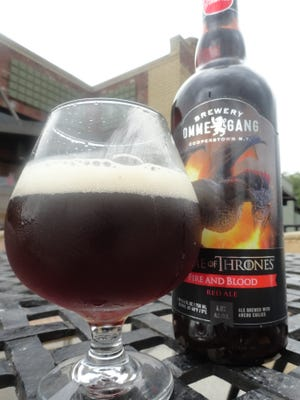 """Brewery Ommegang's latest """"Game of Thrones""""-themed beer, Fire and Blood red ale."""