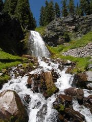 Plaikni Falls is a pretty waterfall reached via an easy trail at Crater Lake National Park.