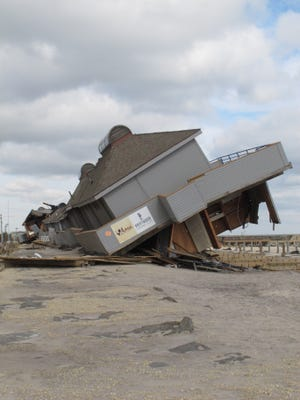 A beach club in Sea Bright destroyed by Superstorm Sandy.