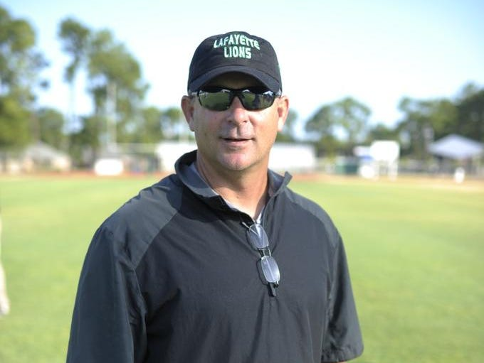 Lafayette High head coach Jay Domengeaux has a career record of 26-34; 14-26 at LHS.