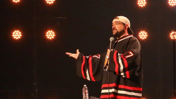 Filmmaker Kevin Smith at the Alex Theater in Glendale,