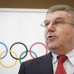 Thomas Bach, president of the International Olympic Committee speaks to media last Friday in Sepang, Malaysia.