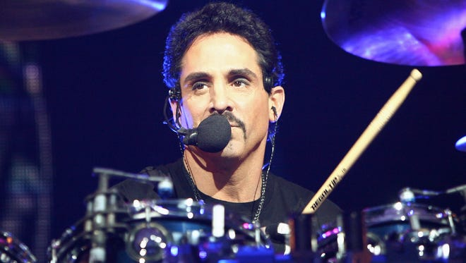 Journey drummer Deen Castronovo performs at the Planet Hollywood Theatre for the Performing Arts March 8, 2008 in Las Vegas, Nevada.