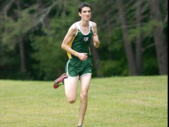 Joey Colaizzo runs in a competition for Franklin D.