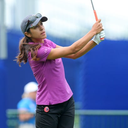 Paula Reto hits from the 1st tee during the KPMG Women's