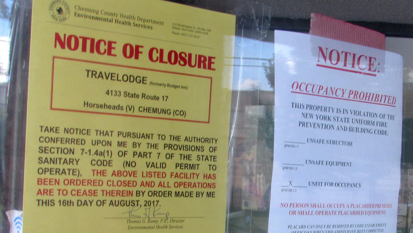 Horseheads motel shut down for health, code violations
