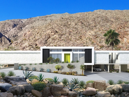 Screen House I is the first of 3 planned homes inspired by the designs of pioneer modernists Le Corbusier and Mies van der Rohe. These impressive, sleek homes are nestled against the mountains in the historic Palm Springs Tennis Club, with the first home priced starting at $2,999,000. Listed by NDC Homes.