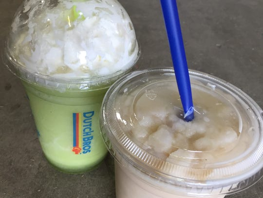 The Caramel Apple Smoothie and Pumpkin Pie Frost are