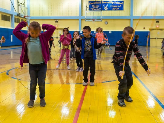 Deerfield Township students Jump Rope for Heart at