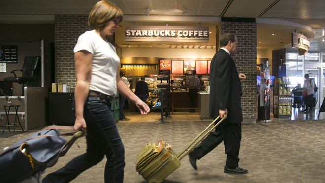 Starbucks Coffee at Terminal 4 in Phoenix Sky Harbor International Airport on Thursday, November 10, 2016.