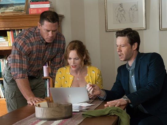 John Cena (from left), Leslie Mann and Ike Barinholtz