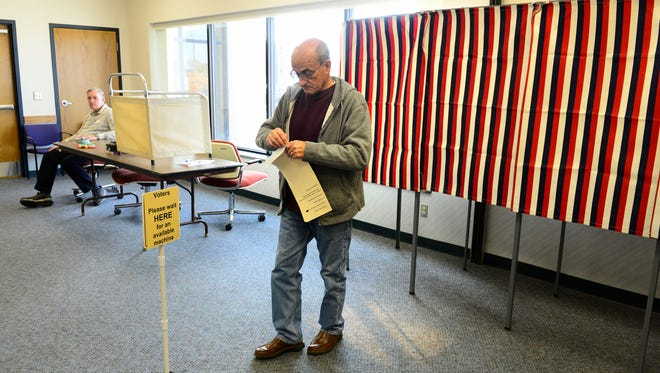 Jim Shiets to votes in Port Clinton on Tuesday afternoon.