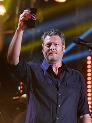 Blake Shelton performs during the CMA Fest at Nissan