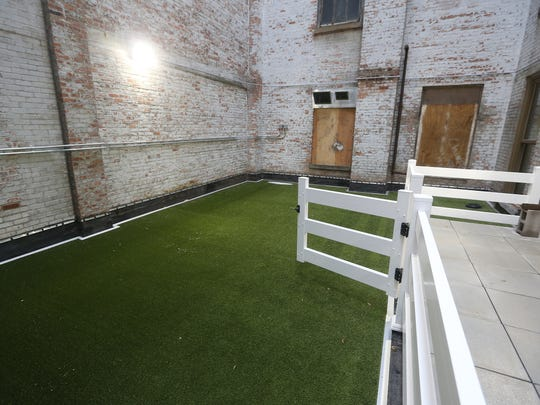 Residents of Sibley Square will have access to an indoor and outdoor dog park.