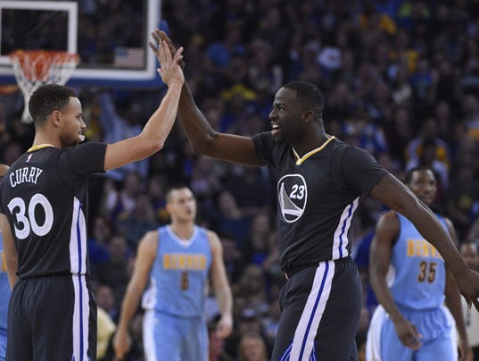 USP NBA: DENVER NUGGETS AT GOLDEN STATE WARRIORS S BKN USA CA