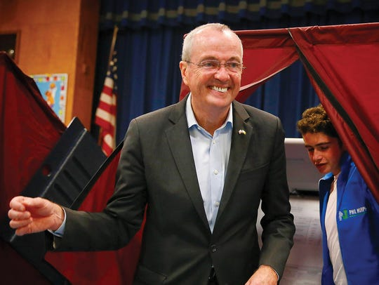 Phil Murphy, shown casting his ballot on Election Day