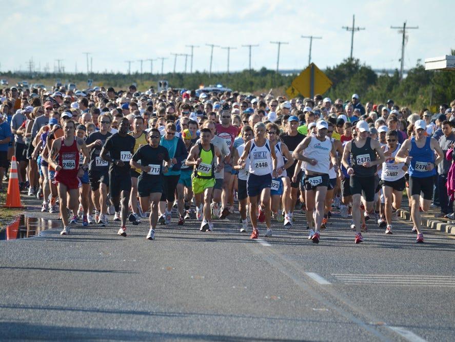 The Jersey Shore Half-Marathon in 2011.
