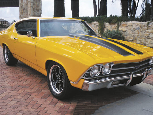 This custom Chevelle coupe went through a total restoration, boasts more than 500 horsepower and runs on a six-speed, manual transmission. It's up for auction at Barrett-Jackson in Scottsdale on Jan. 28, 2016.
