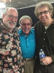 Author Bob Teitelbau, drummer Frank Capp and columnist Bruce Fessier gathered Friday at Pete Carlson's Golf & Tennis