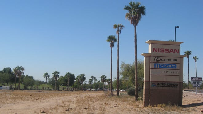 The Cardinale Automotive Group, which owns several dealerships in California and Arizona, wants City Council permission to build another one on this tract along Superstition Springs Boulevard in Mesa.