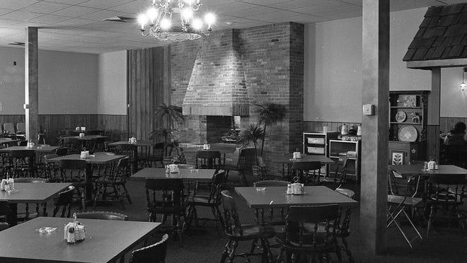 Dining room at the Sveden House Smorgasbord, Jan. 18, 1968.