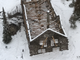 Crews snapped an aerial shot into Sperry Chalet after stabilization work was completed. The chalet lost it's roof and floor during the Sprague Fire this summer.