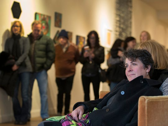 Audience at Quincy Mumford performance at the Parlor Gallery.  Asbury Underground and Light of Day artists play around Asbury Park, NJ on Saturday January 14, 2017.