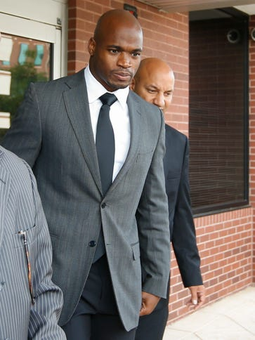 Running back Adrian Peterson will have to wait before