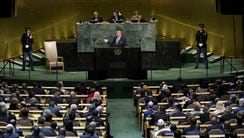 President Trump addresses the United Nations General