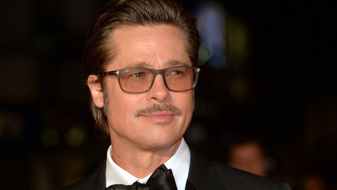 "Brad Pitt attends the closing night European Premiere gala red carpet arrivals for ""Fury"" during the 58th BFI London Film Festival at Odeon Leicester Square on October 19, 2014 in London, England."