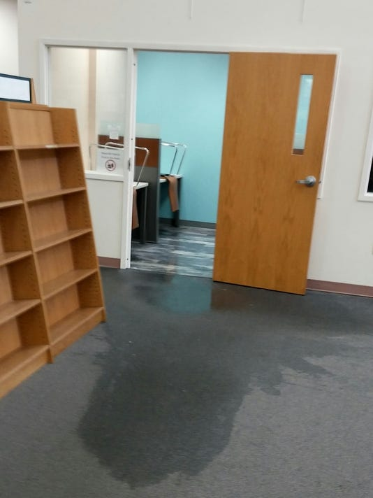 Flooding closes library