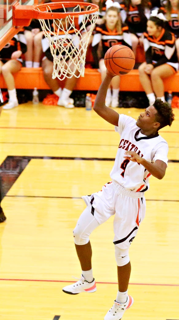 Central York's Saa'hir Cornelius takes the ball to