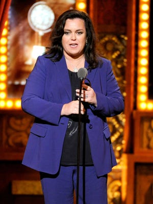 Rosie O'Donnell accepts the Isabelle Stevenson Award on stage at the 68th annual Tony Awards at Radio City Music Hall on Sunday, June 8, 2014, in New York. (Photo by Evan Agostini/Invision/AP)