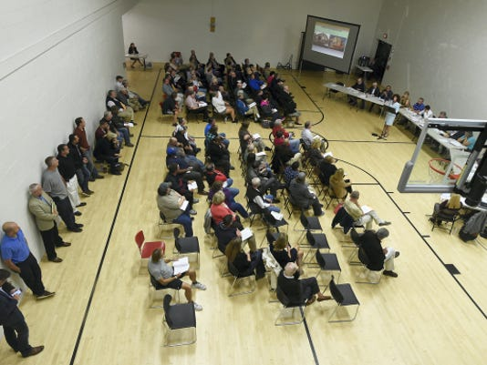 A crowd of about 100 came out to a public hearing Tuesday about Lebanon's proposed Business Improvement District.
